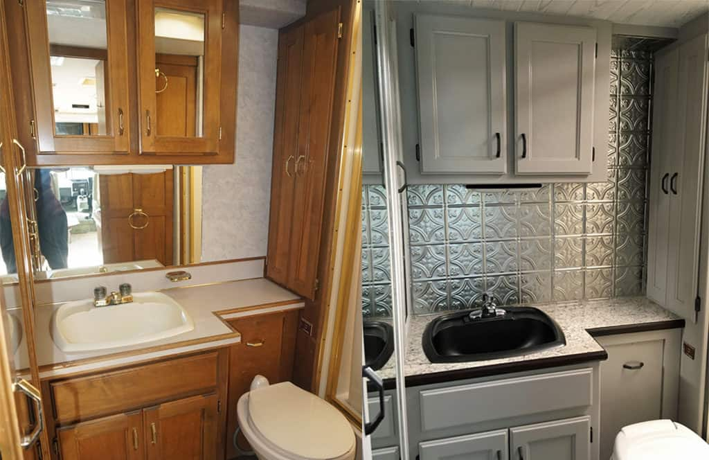 Our RV Bathroom Reno: Big Makeover On A Little Budget – Life