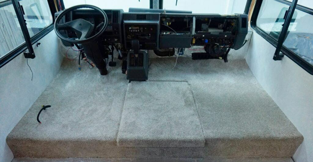 RV Cockpit Renovation - Carpet