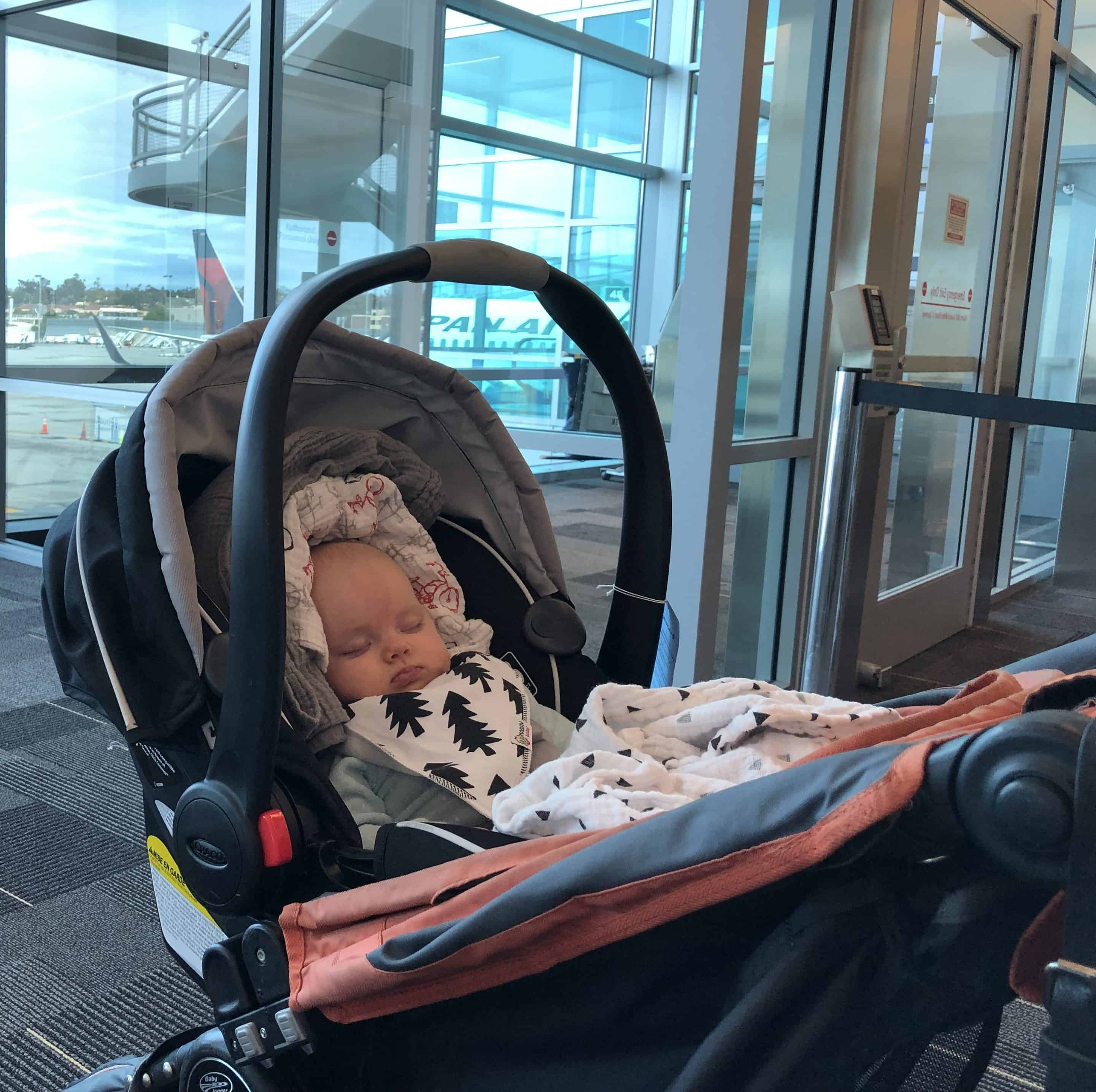 Flying with a baby at the airport