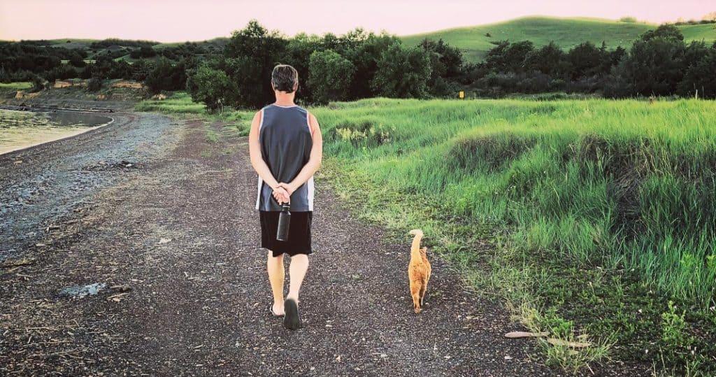 Taking Monty for a walk