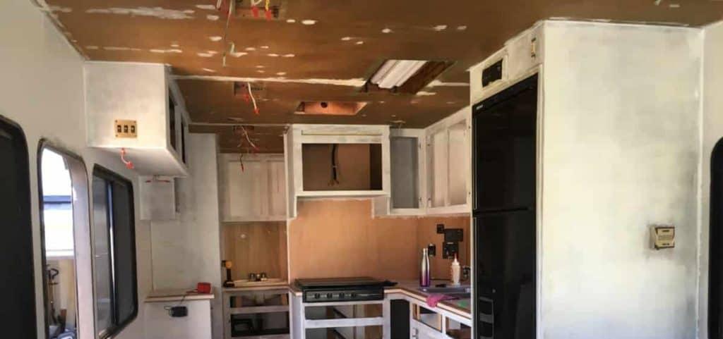 demo'd RV ceiling