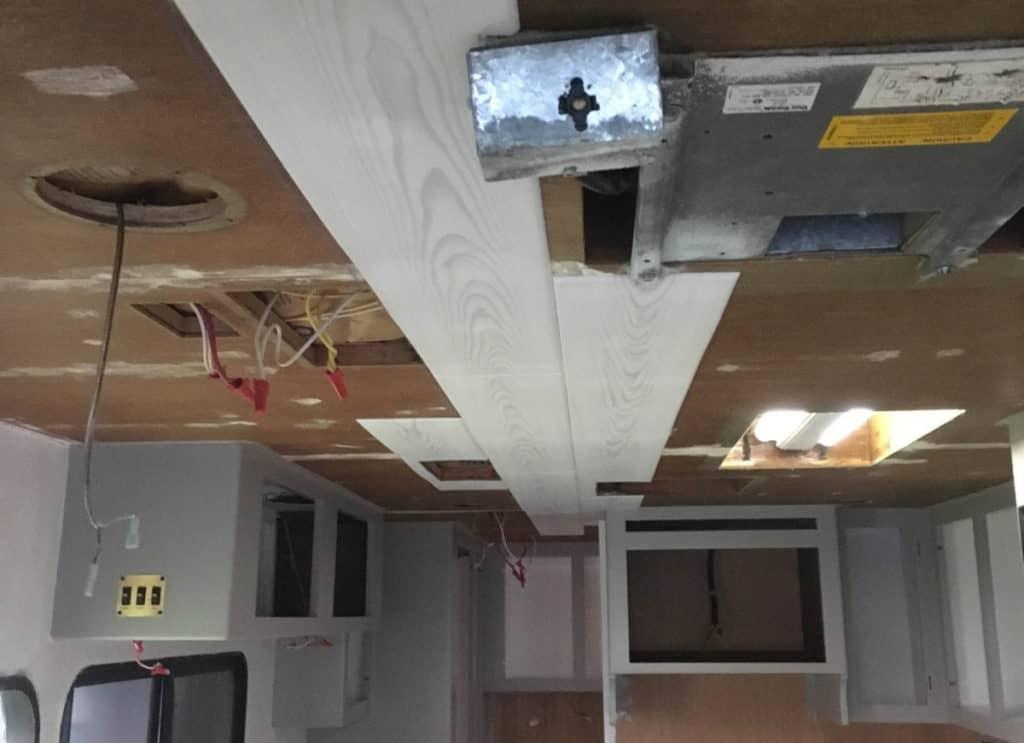 RV ceiling install