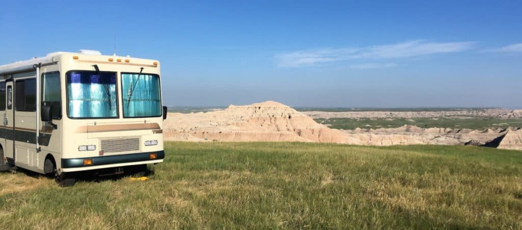 Boon Docking Outside Badlands National Park