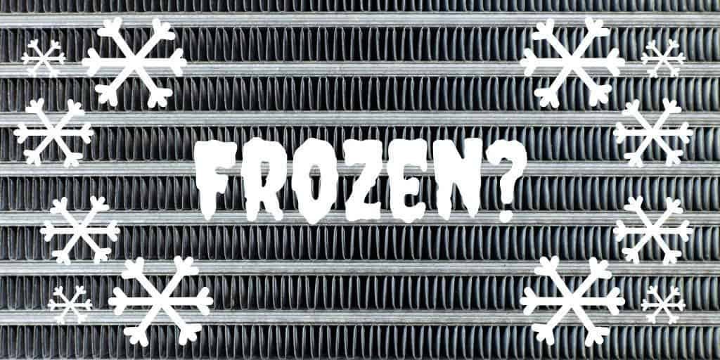 Frozen air conditioner coils