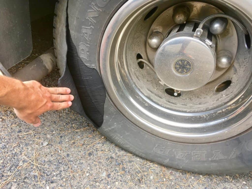 RV Tire Blowout