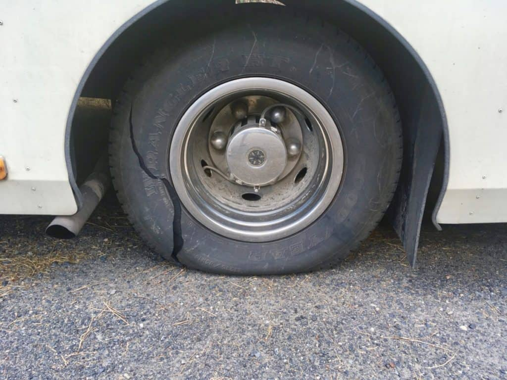 blown out RV Tire