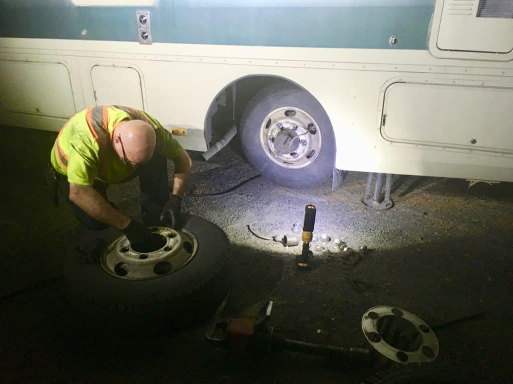 RV tire change