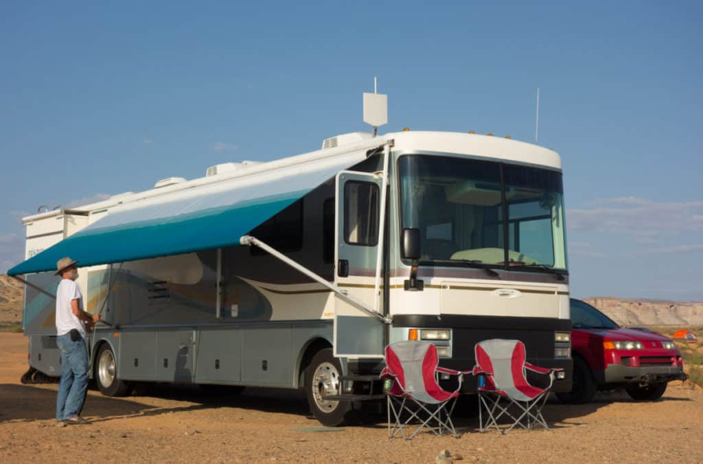 rv awning open and close