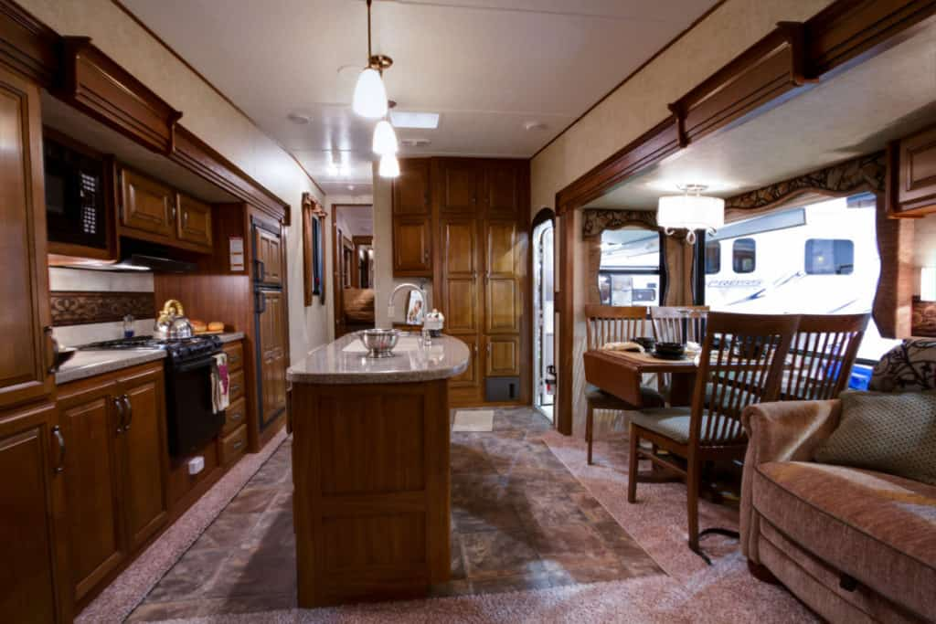 5th wheel rv kitchen and oven