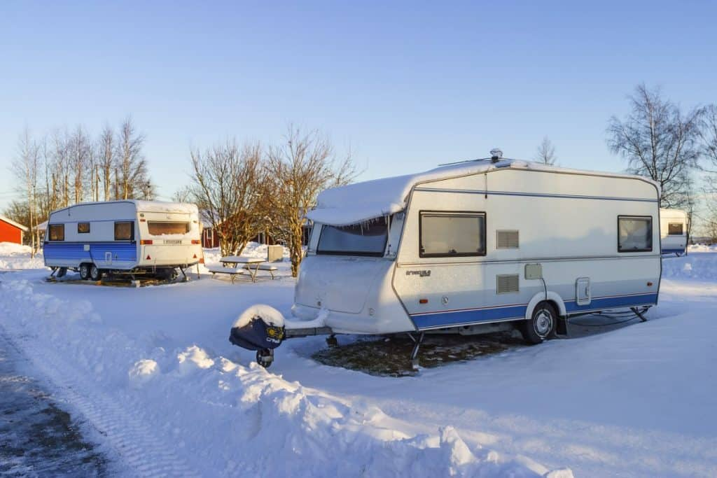 winter camping rv