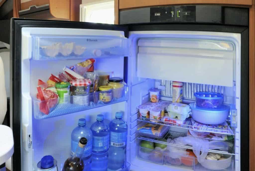 packed rv fridge