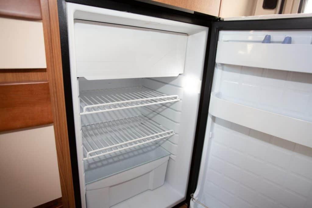 empty RV fridge